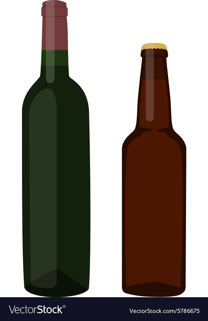 Beer and wine bottle
