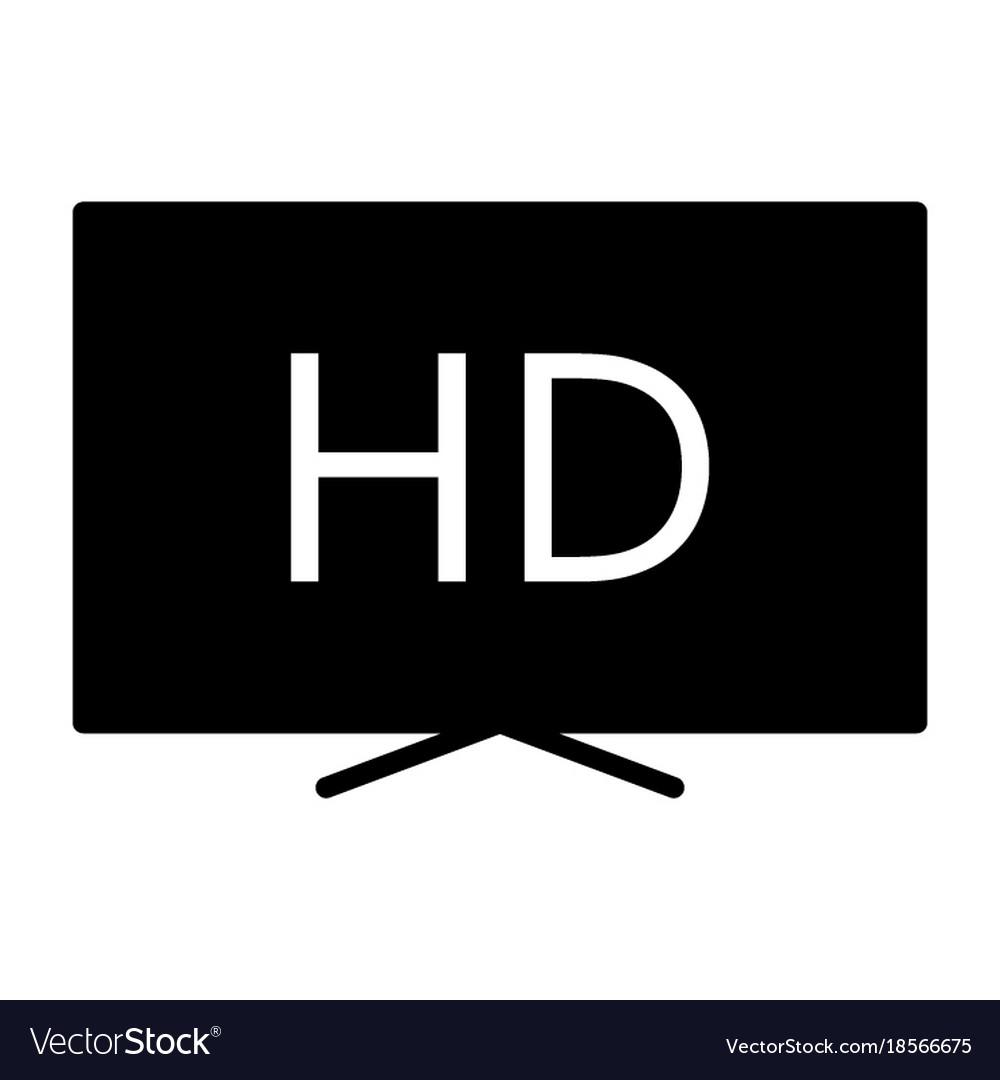 Hd television silhouette icon tv video symbol