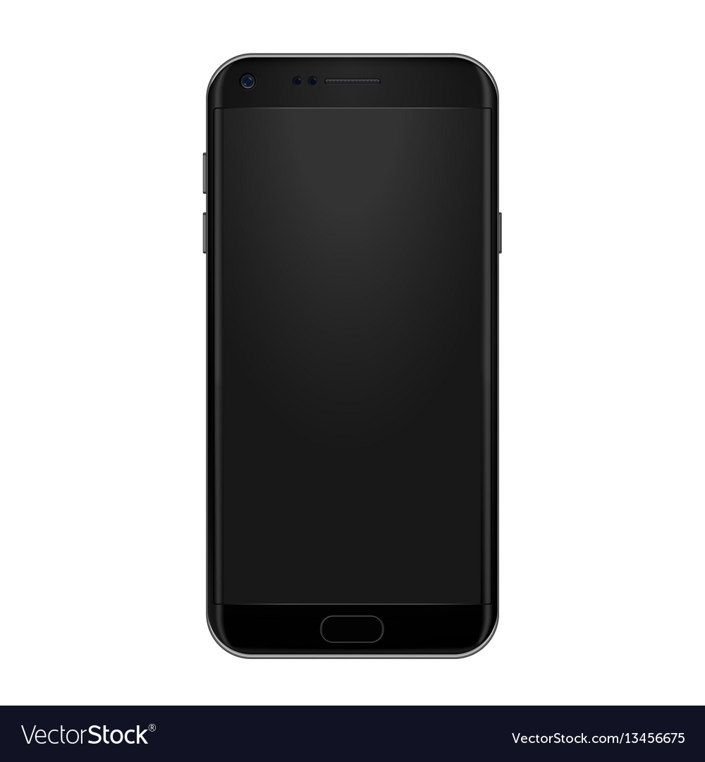 High quality realistic smart phone mock up vector image