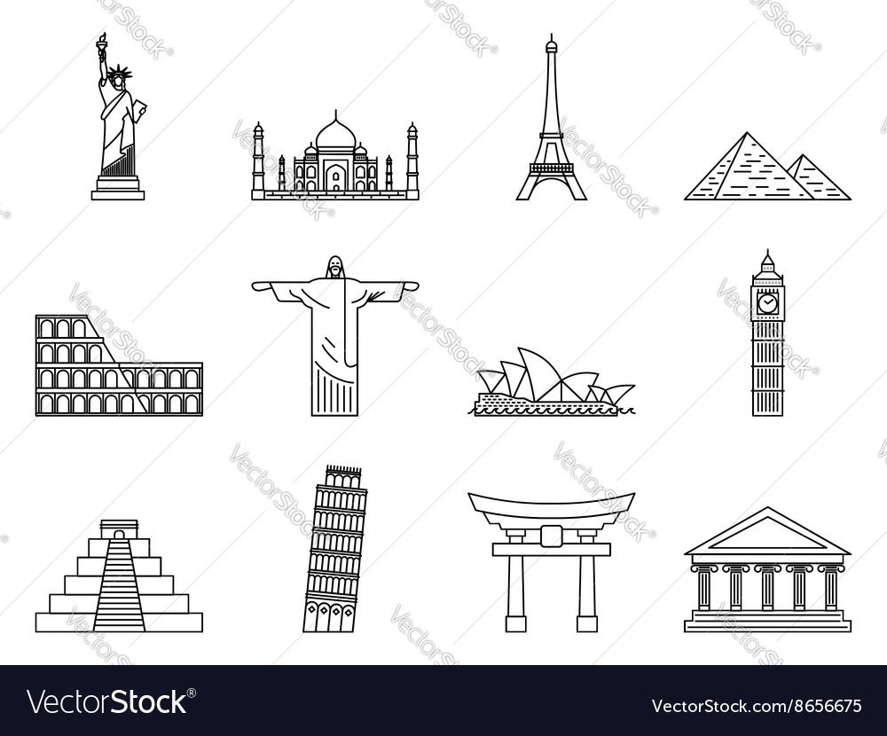 Landmark Icons set