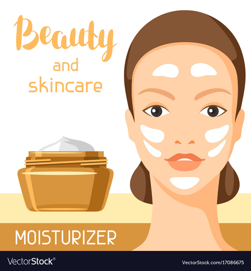 Moisturizing Cream Beauty And Skin Care Royalty Free Vector