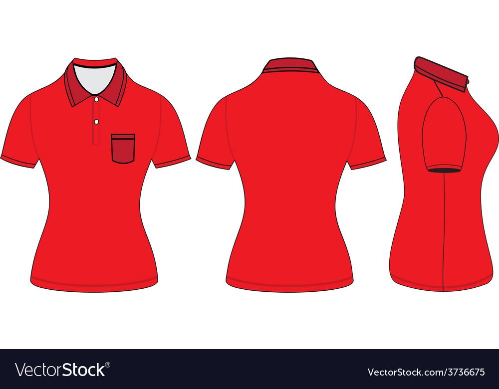 variety design usa cheap sale discount collection Polo woman shirt design templates vector image