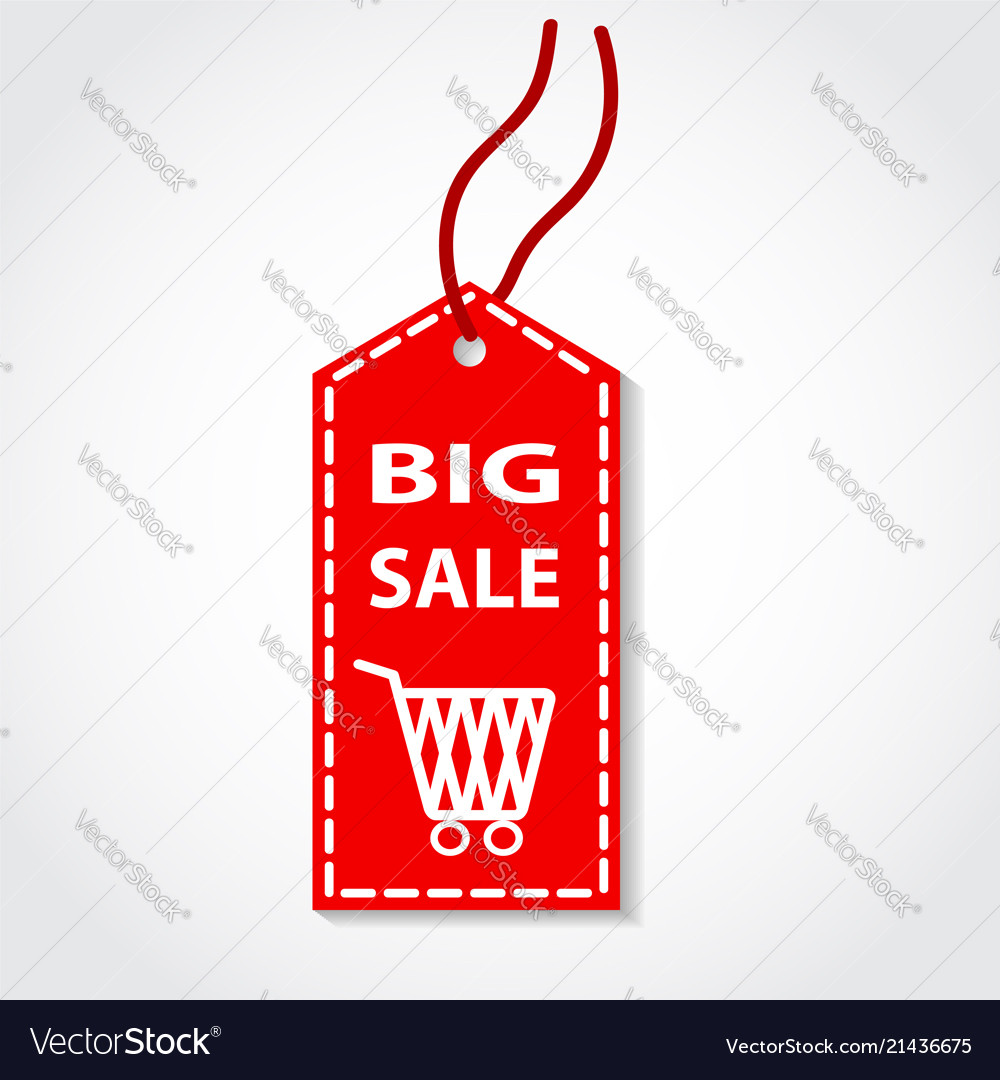 Red tag big sale shopping online design
