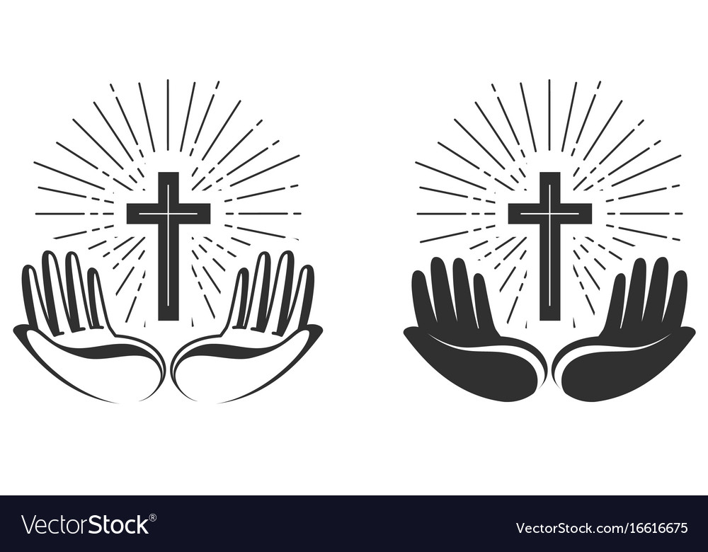 Religion concept bible church faith pray icon