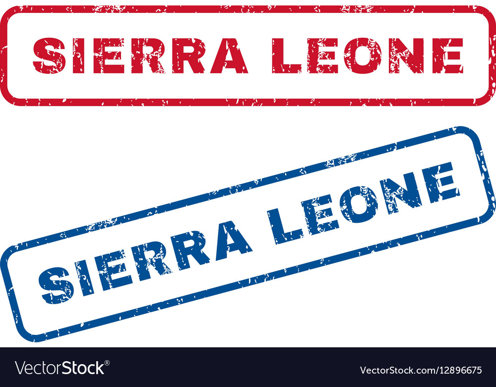 Sierra Leone Rubber Stamps vector image