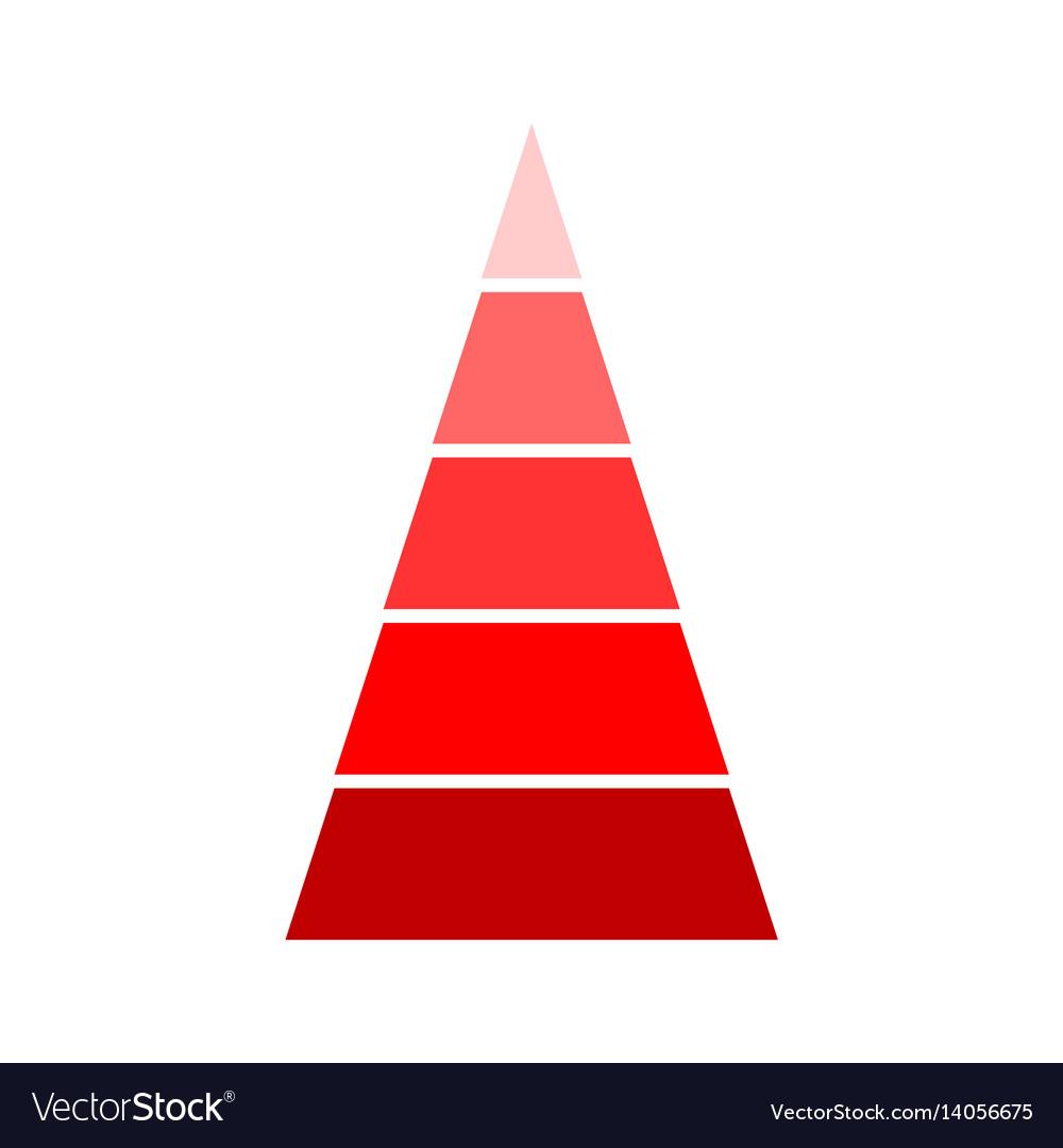 Triangular red indicator