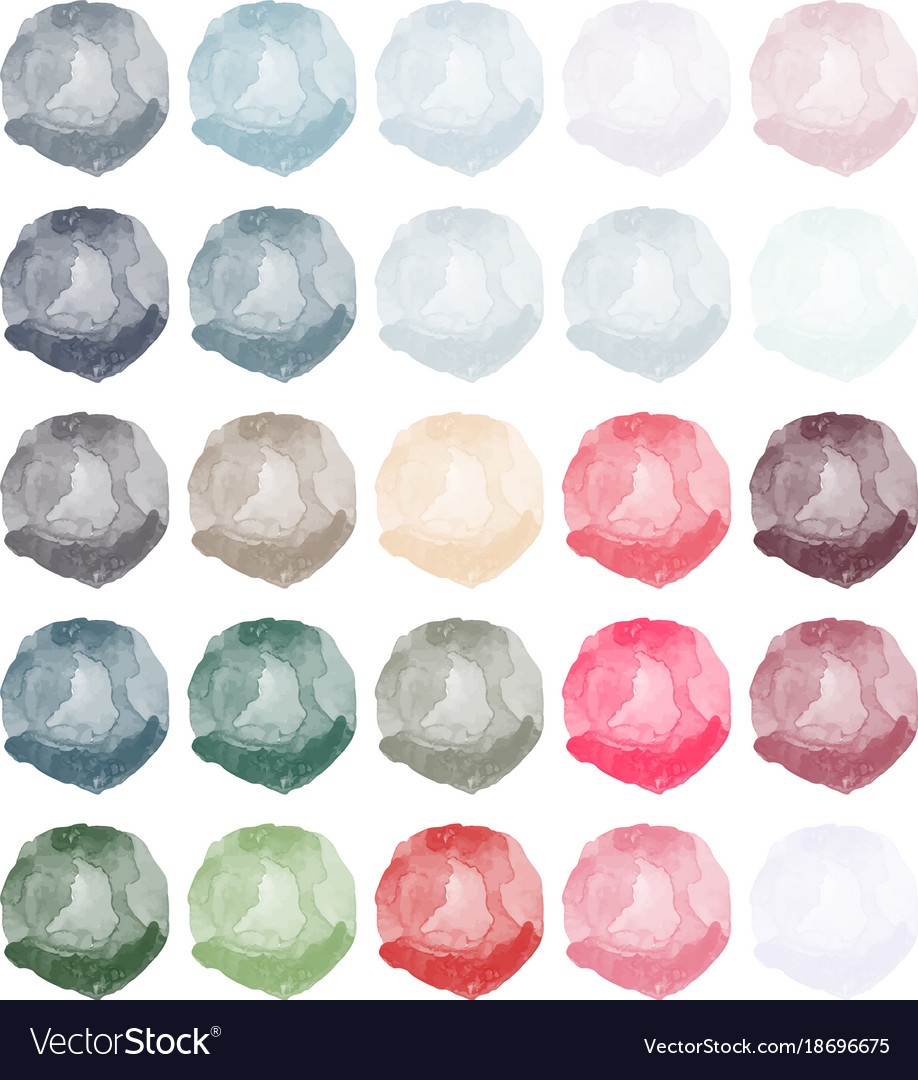 Watercolors blobs