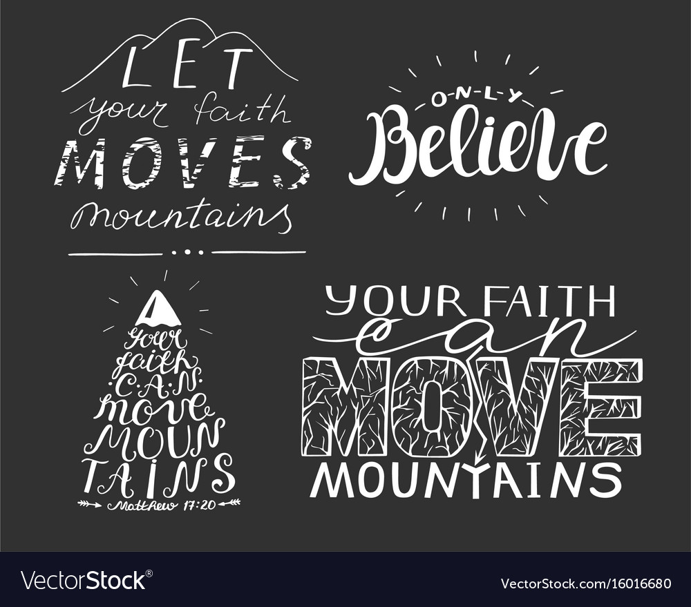 4 hand lettering with biblical verses vector image