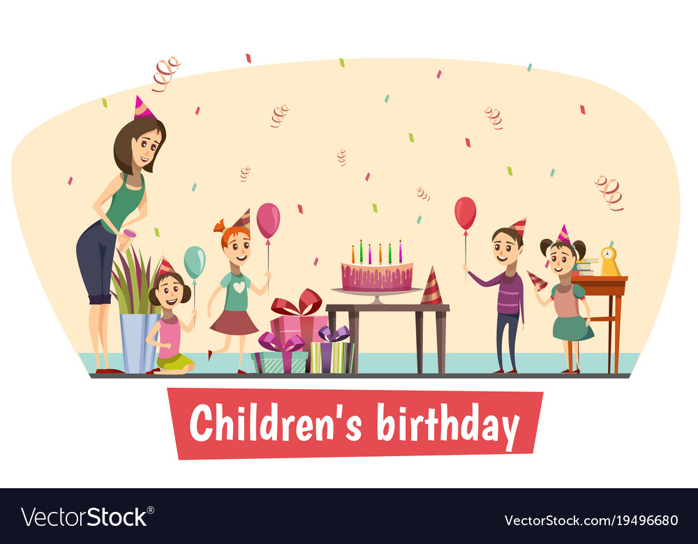 Birthday Celebration Composition Royalty Free Vector Image