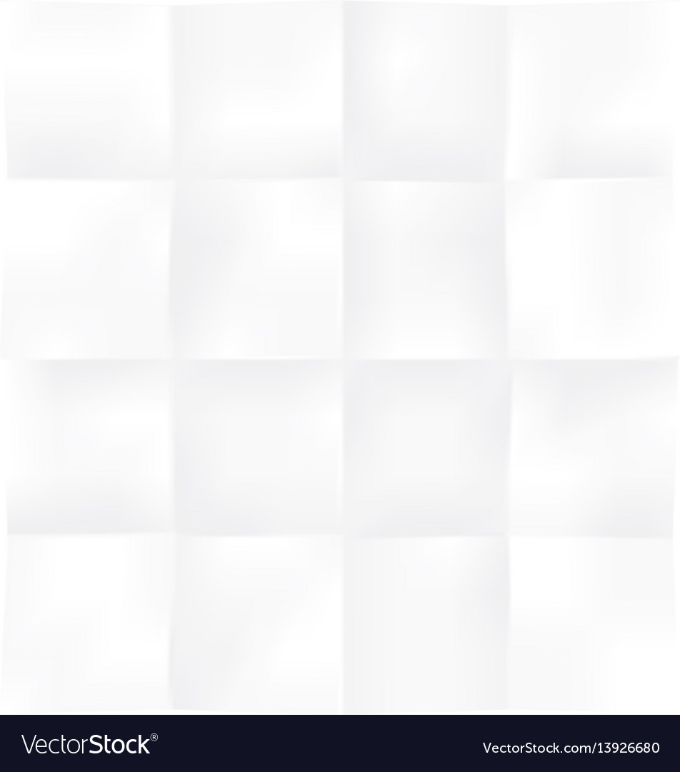 Blank square sheet of paper folded