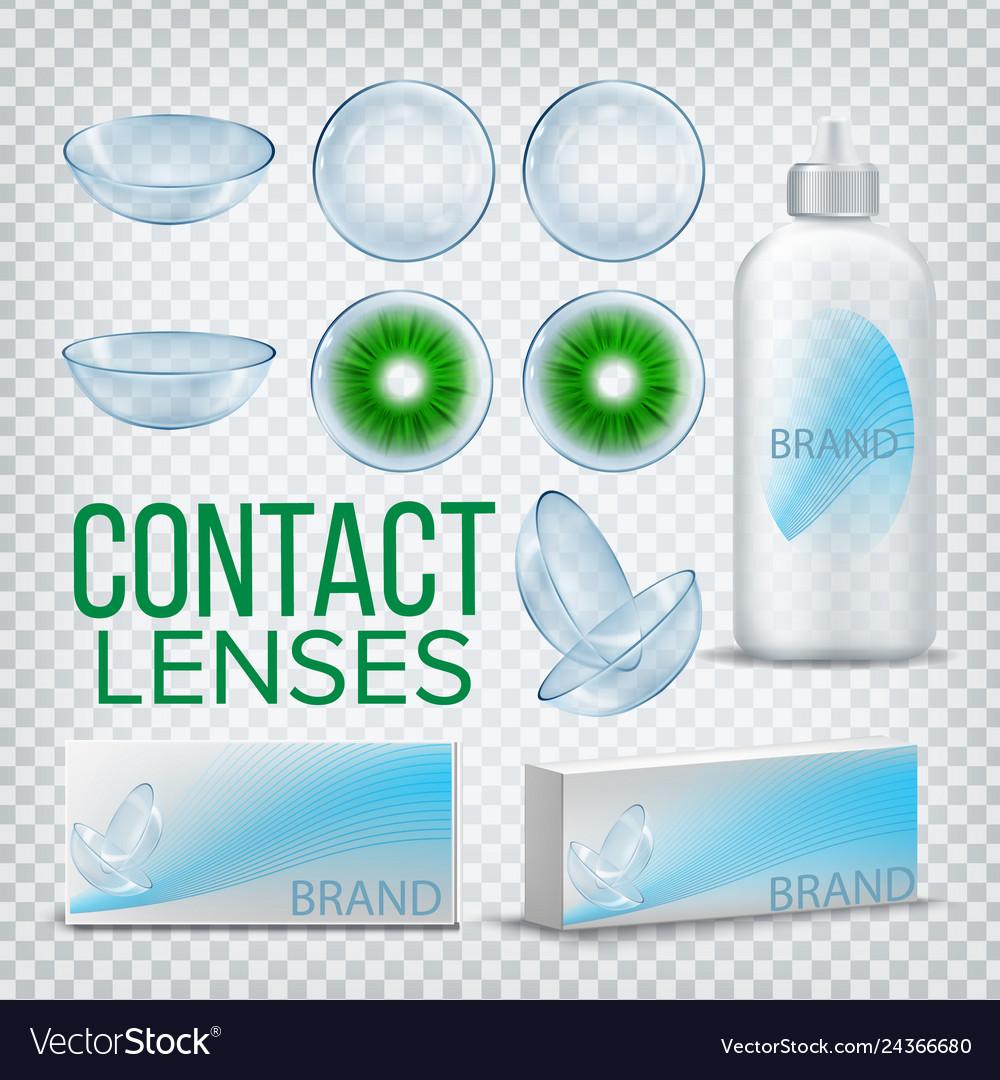 Contact lenses branding design mockup