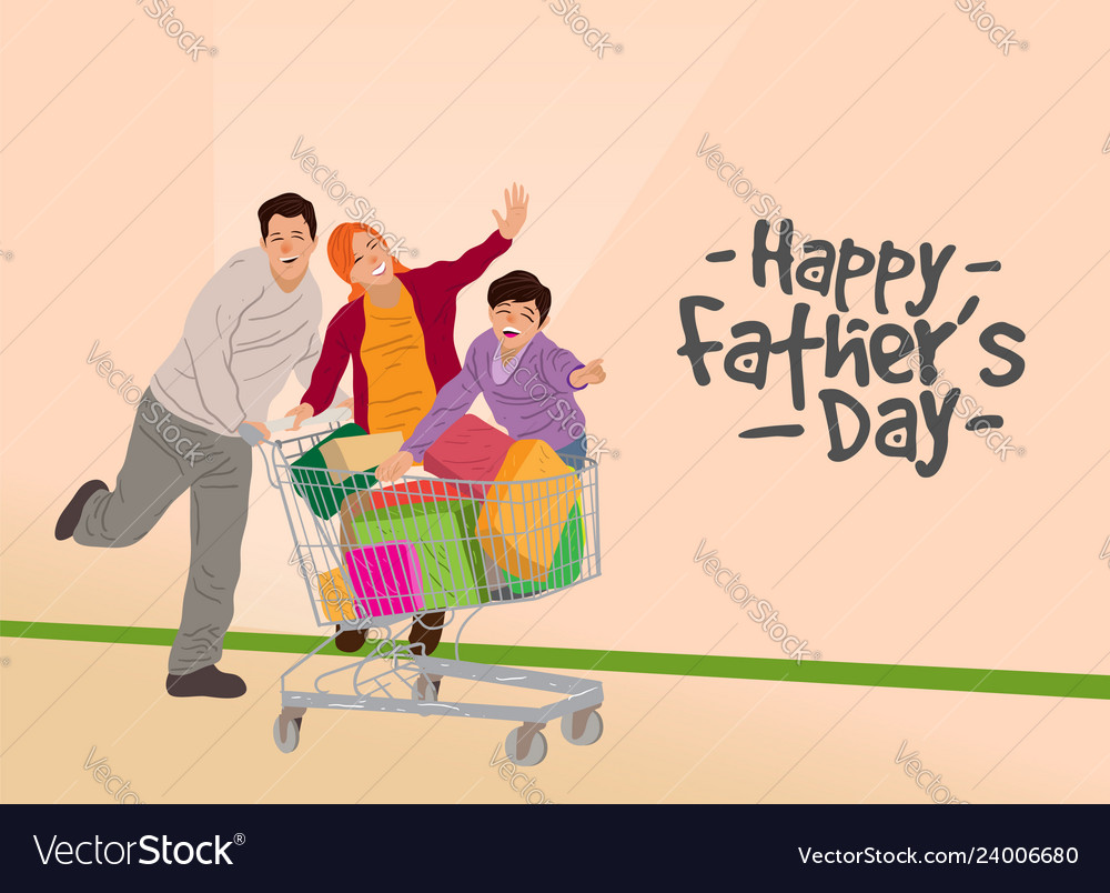 Happy fathers day design concept greeting card