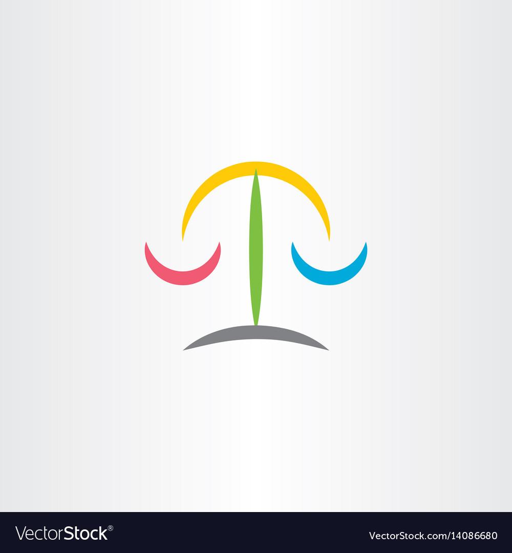 Law judge scale icon logo