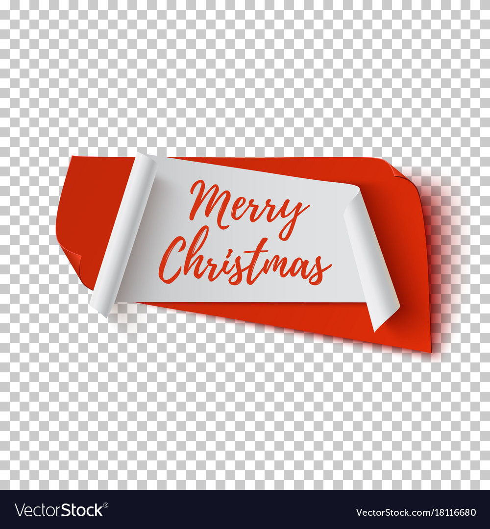 Merry christmas abstract red and white banner