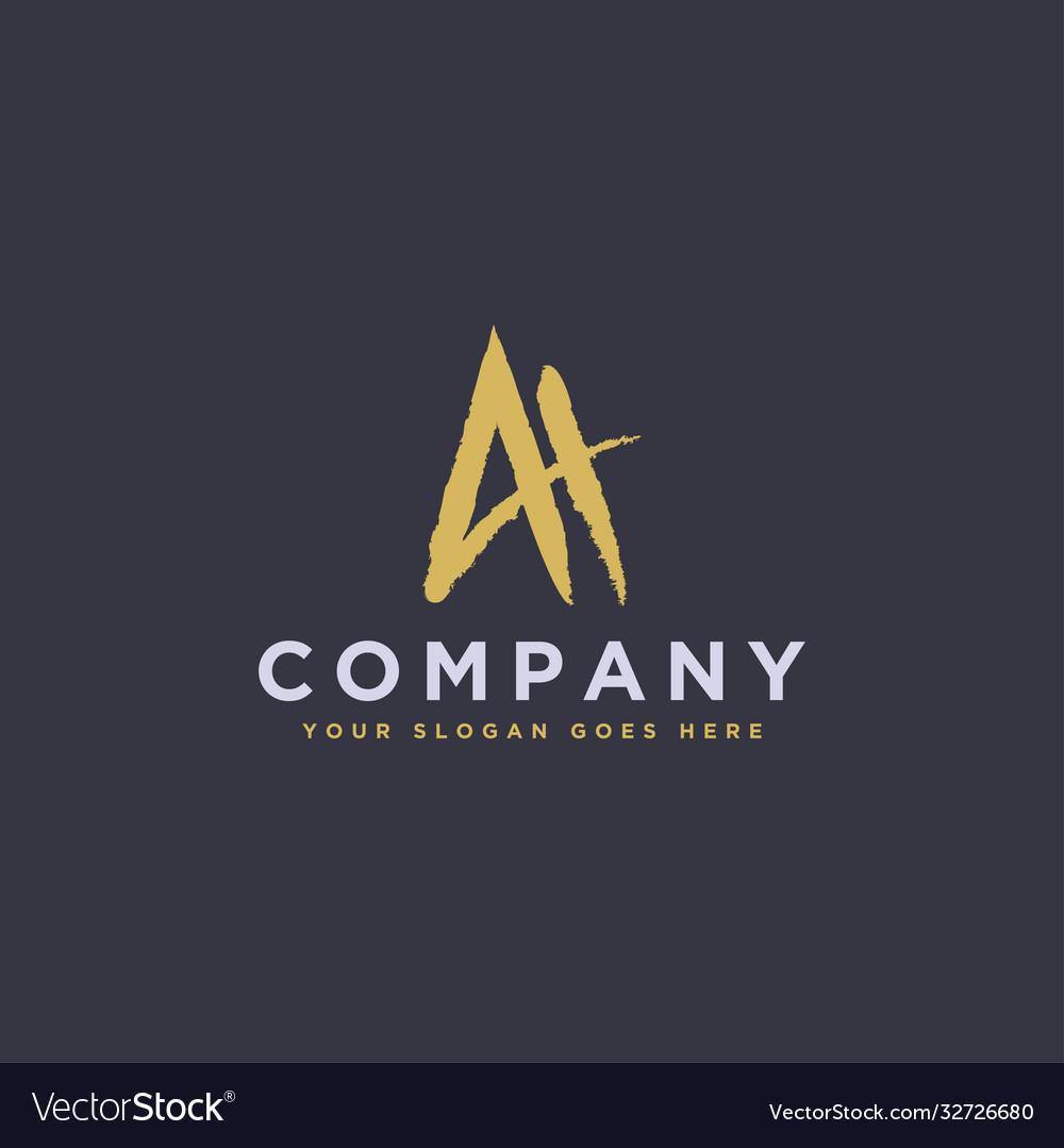 Monogram letter ah logo icon