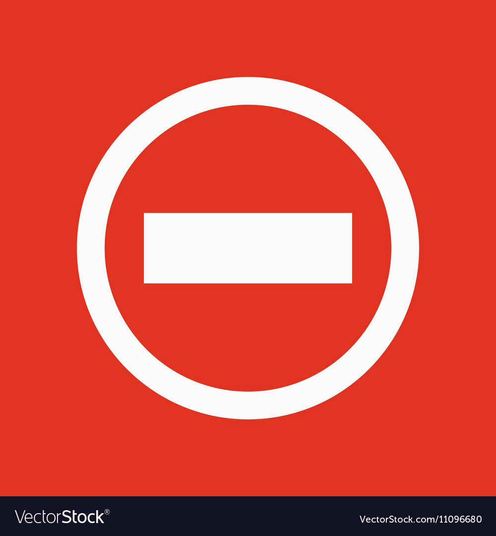 The stop icon Danger and warning symbol Flat