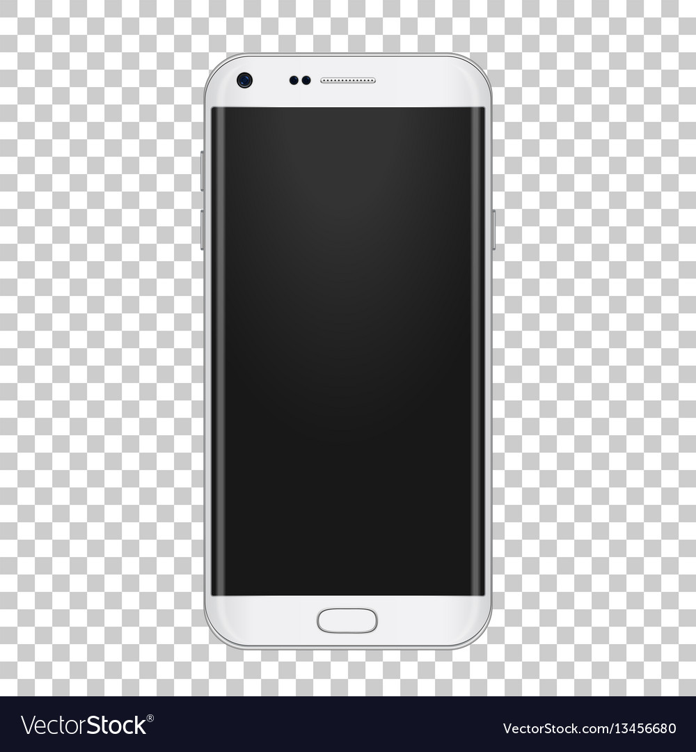 White realistic moder phone with camera volume vector image