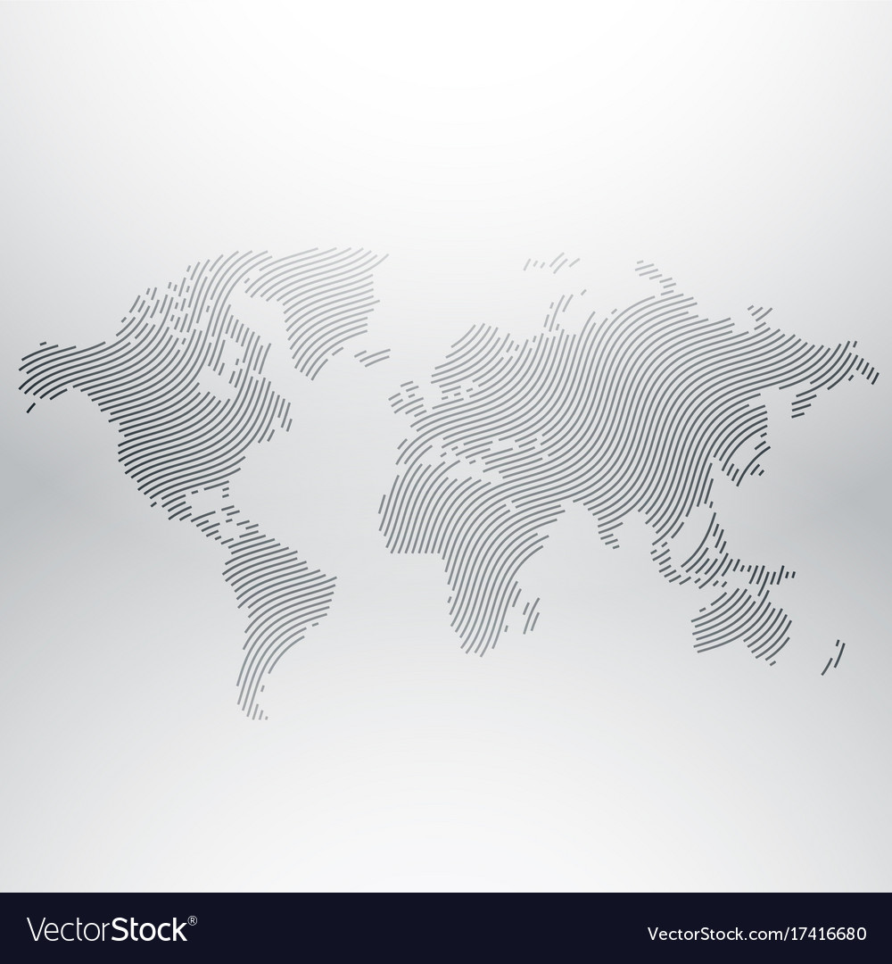 World map design in creative wavy pattern vector image gumiabroncs Gallery
