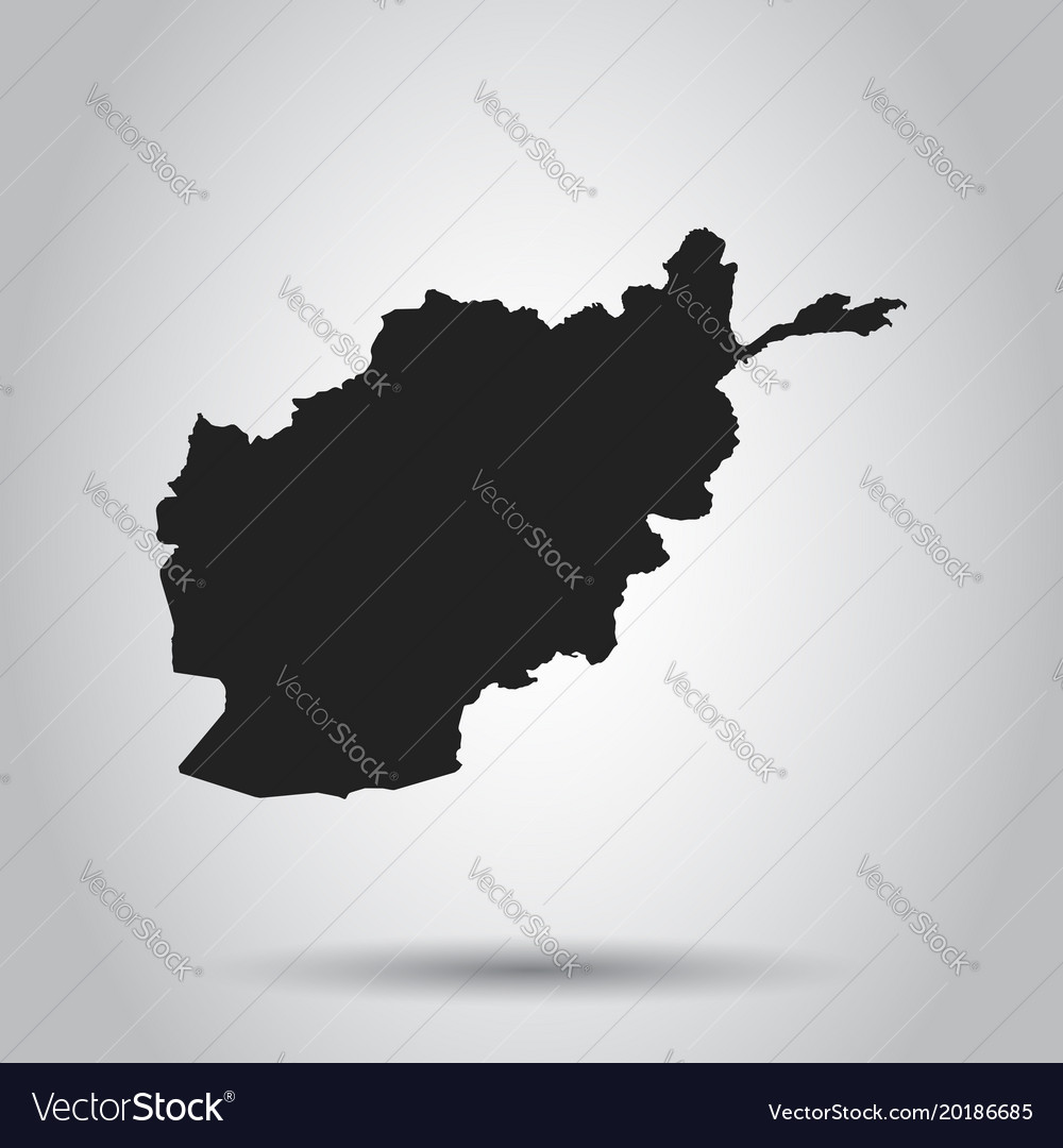Afghanistan map black icon on white background vector image gumiabroncs Images