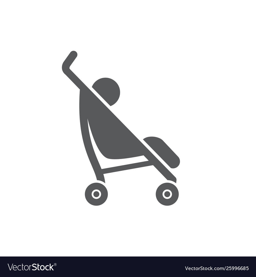 Bastroller icon on white background vector
