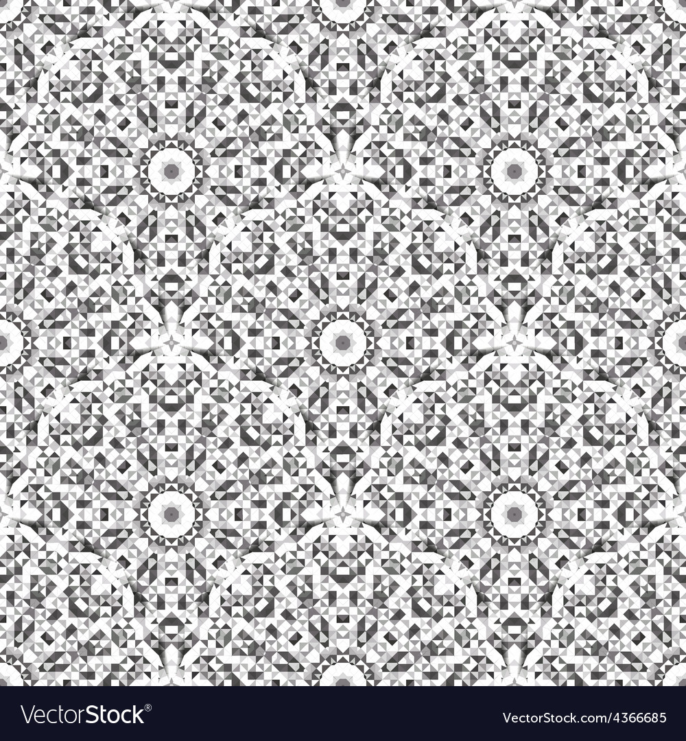 Black and White Color Geometric Pattern