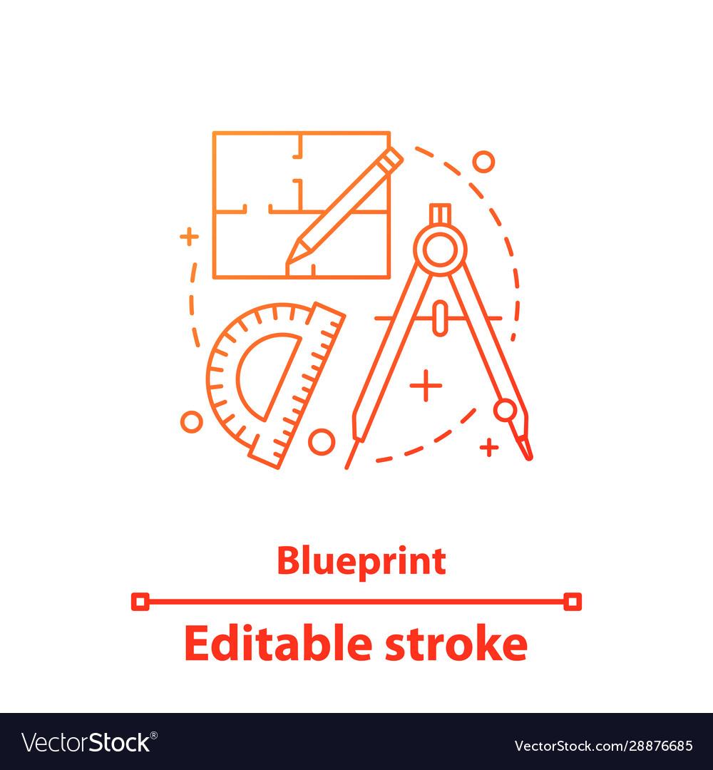 Blueprint concept icon