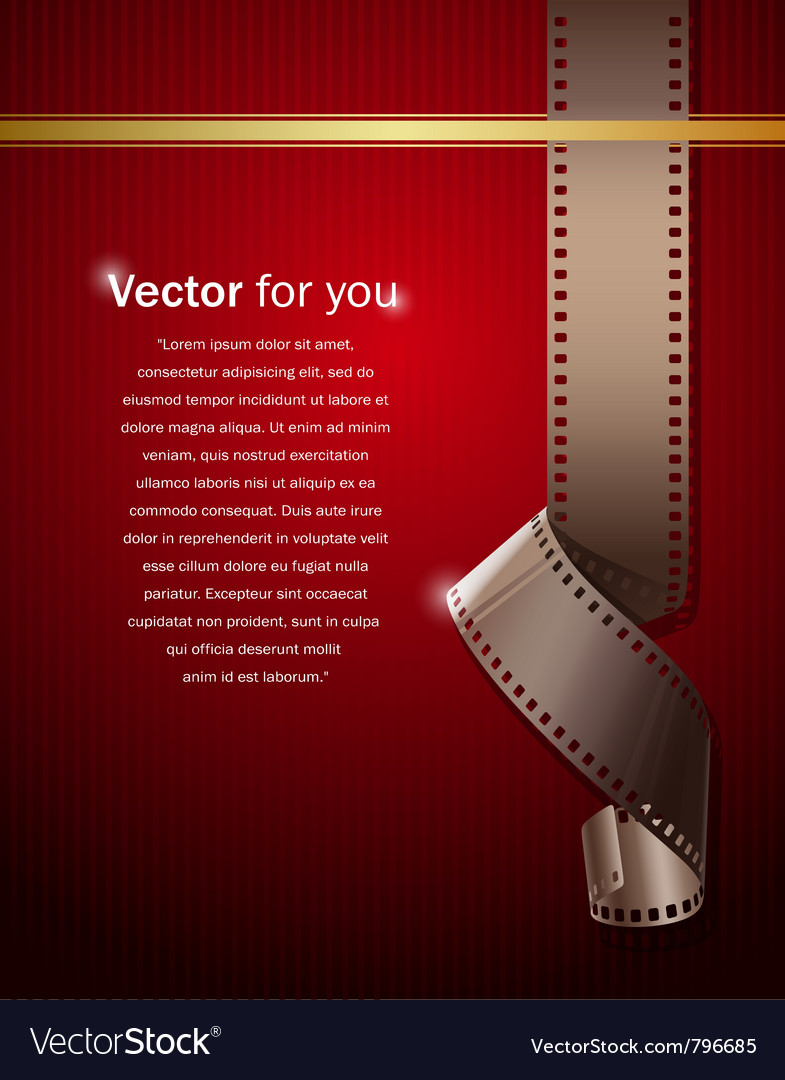 Camera film roll on wallpaper red background