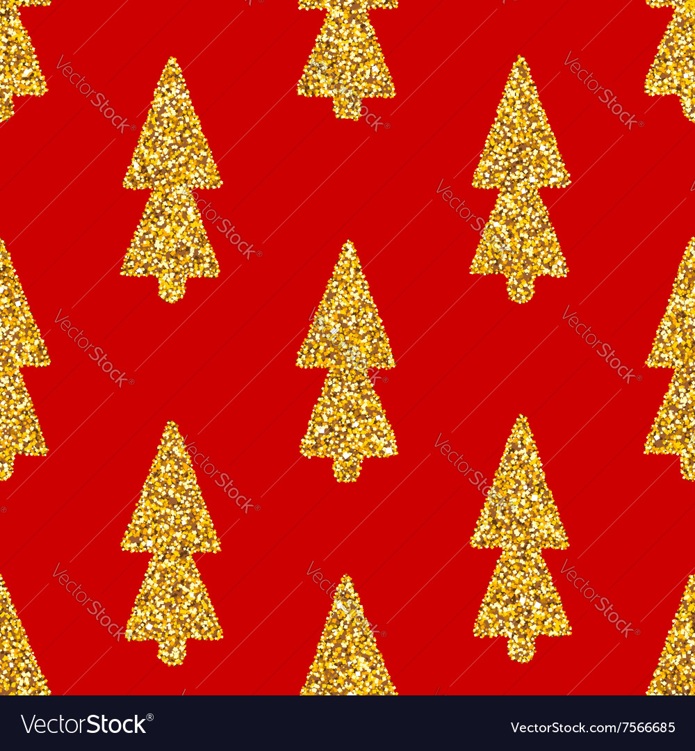 Christmas tree red seamless background