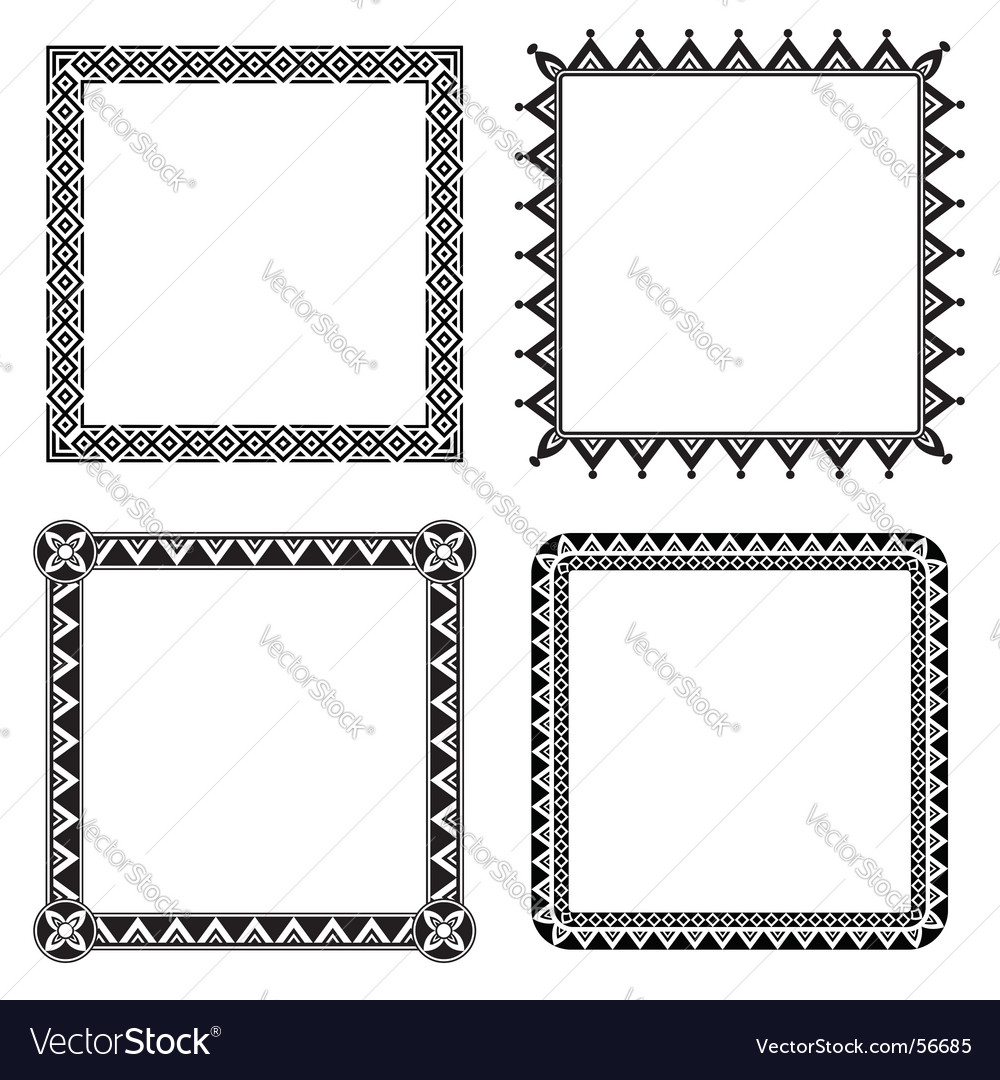 Geometric ornamental frames vector image