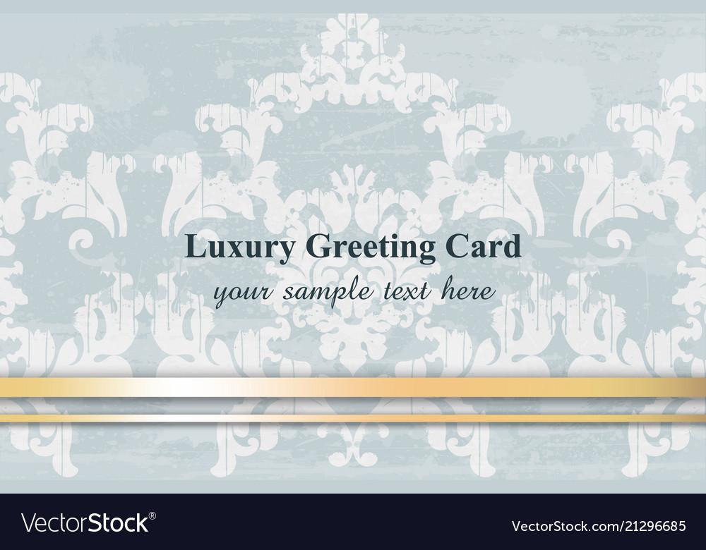 Luxury greeting card baroque ornament