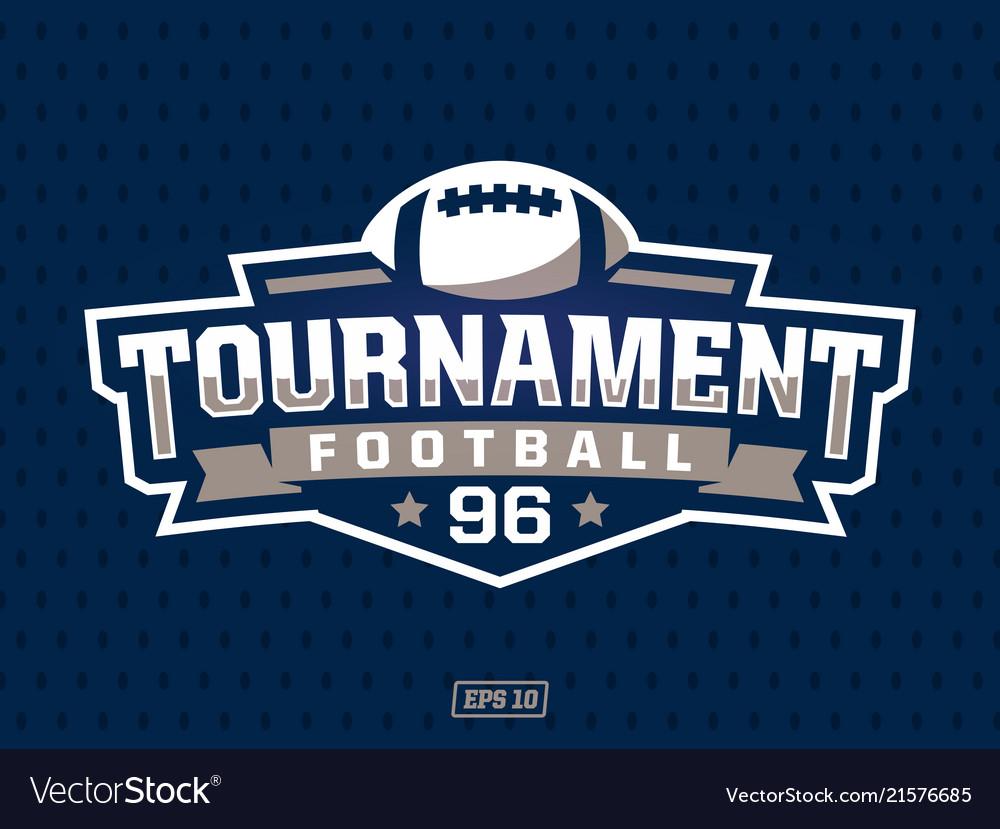 Modern professional american football logo