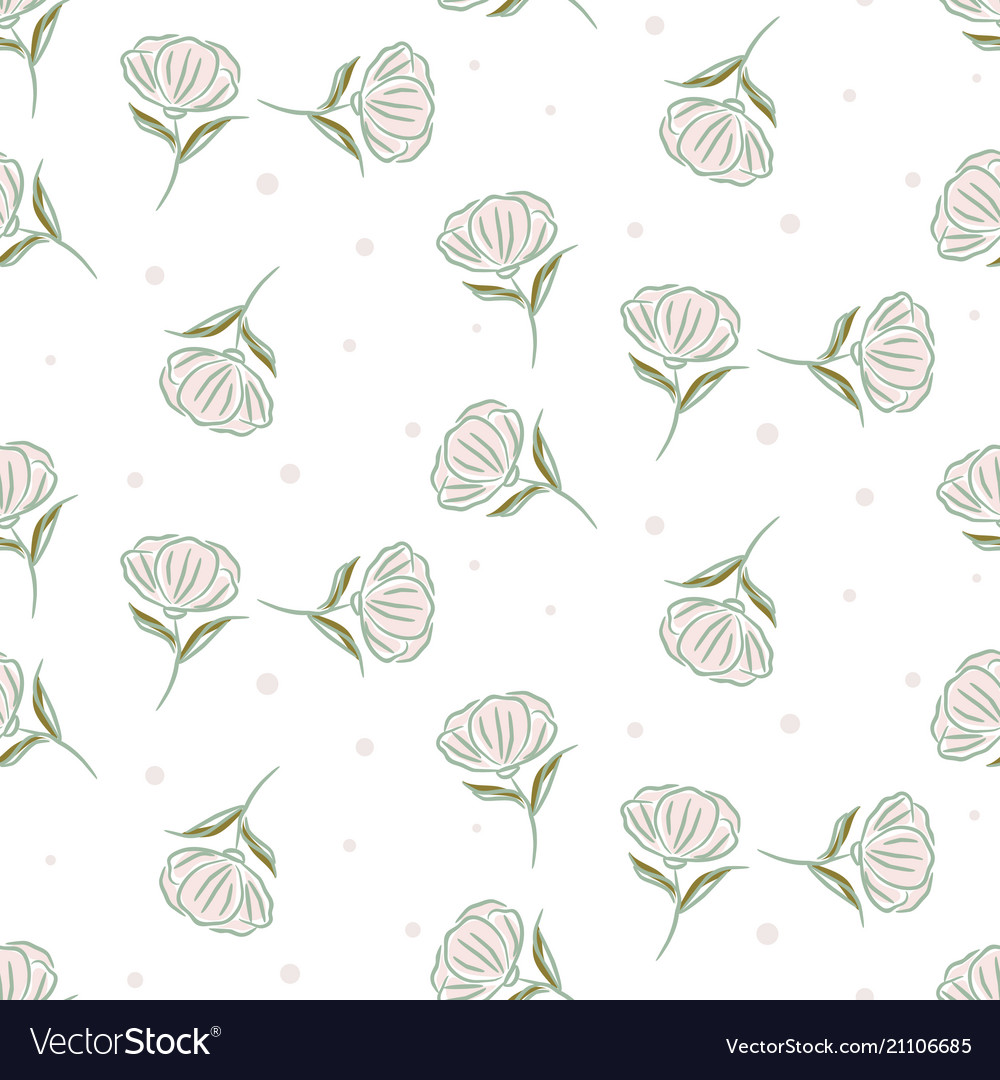 Simple flower pattern design