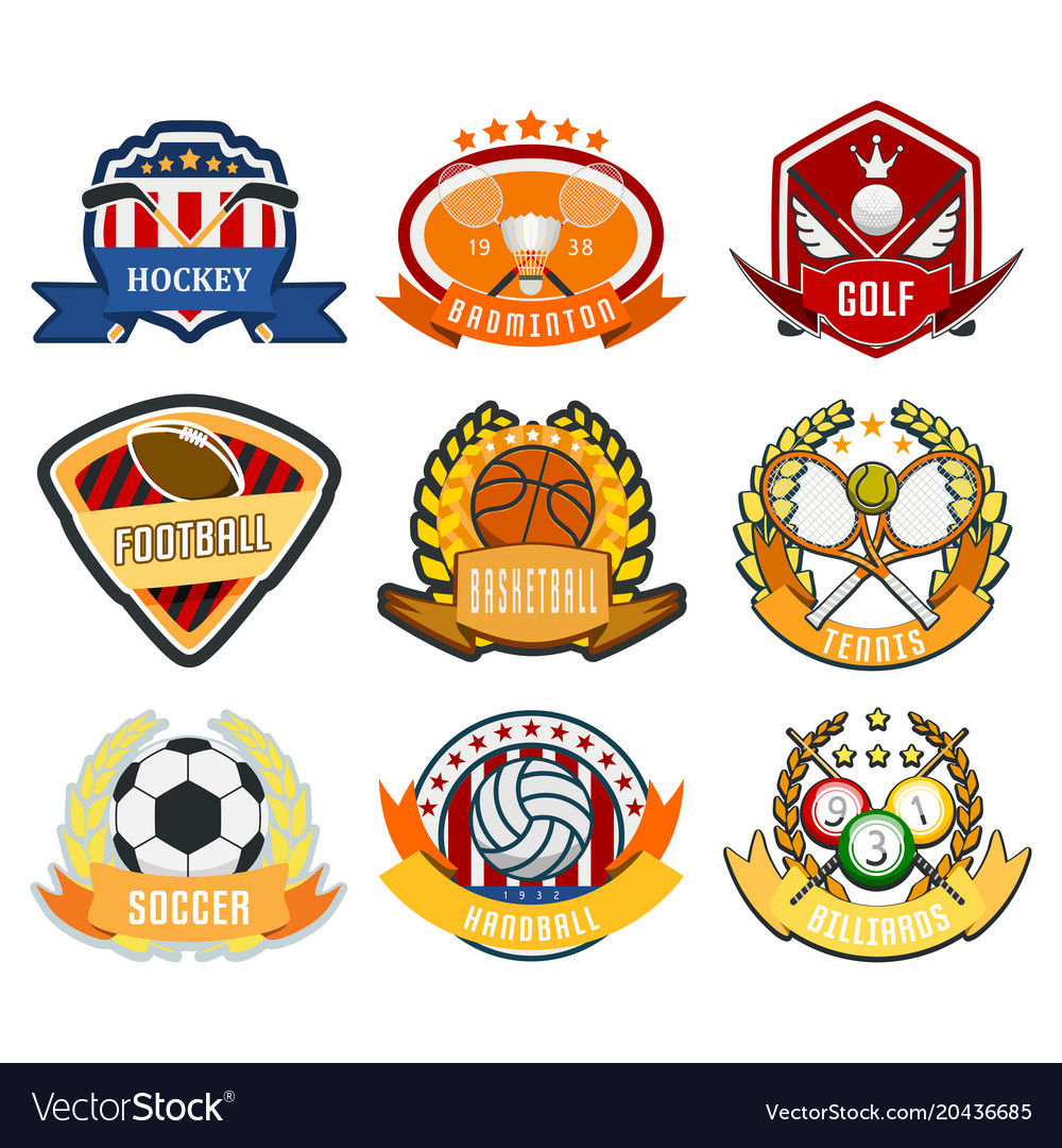 Sport game team logo play tournament label
