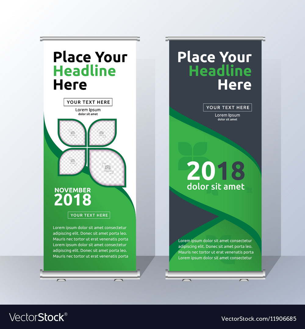 Vertical roll up banner template design