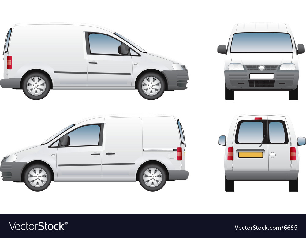 Volkswagen Caddy Delivery Van Vector Image