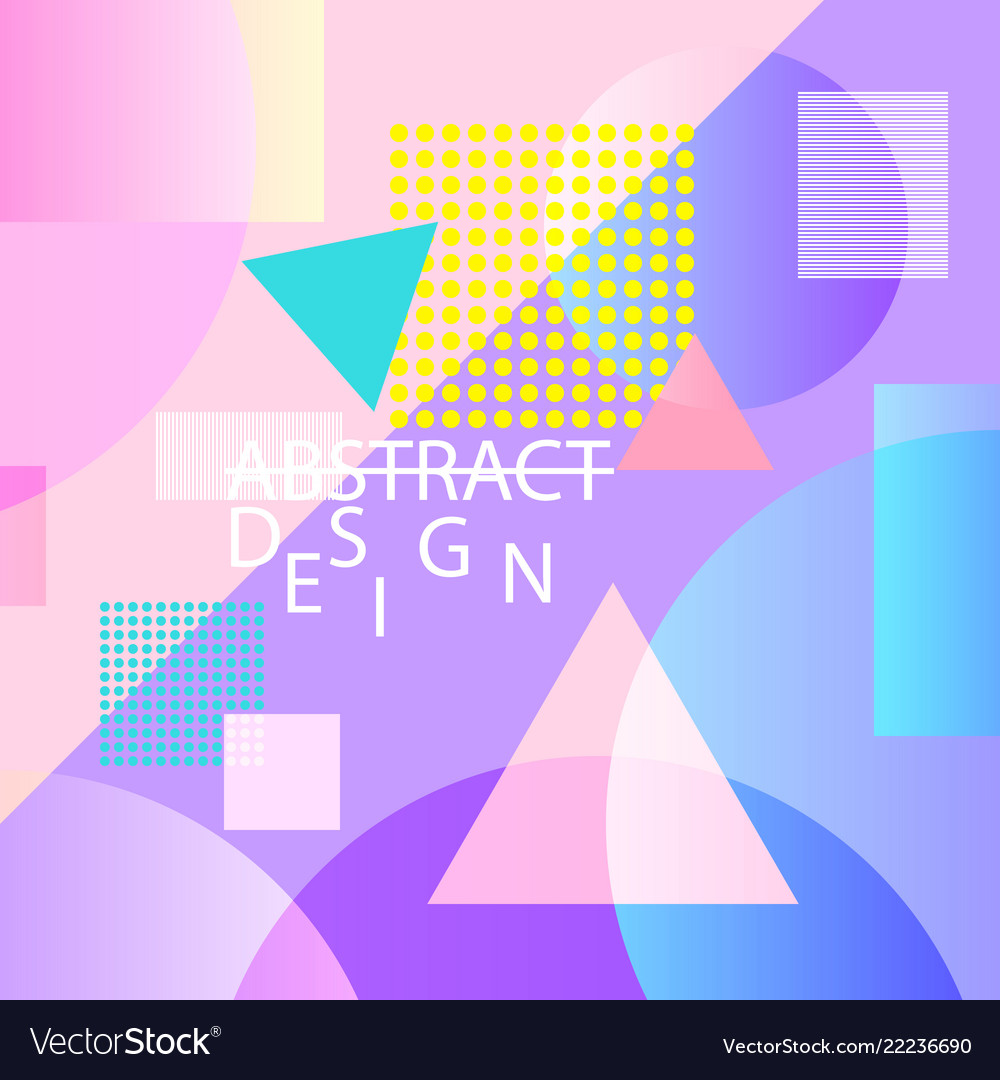 Abstract geometric background bright colorful