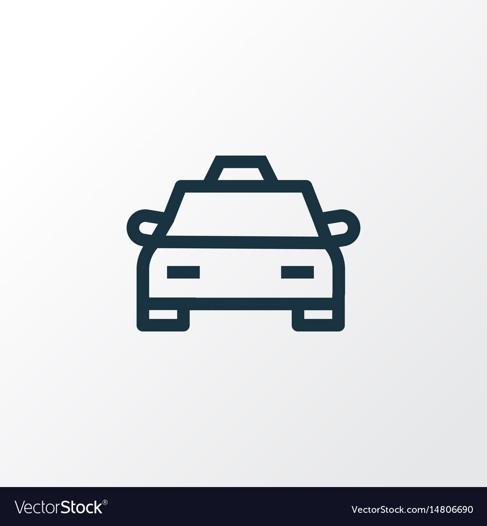 cab outline symbol premium quality isolated taxi vector image vectorstock