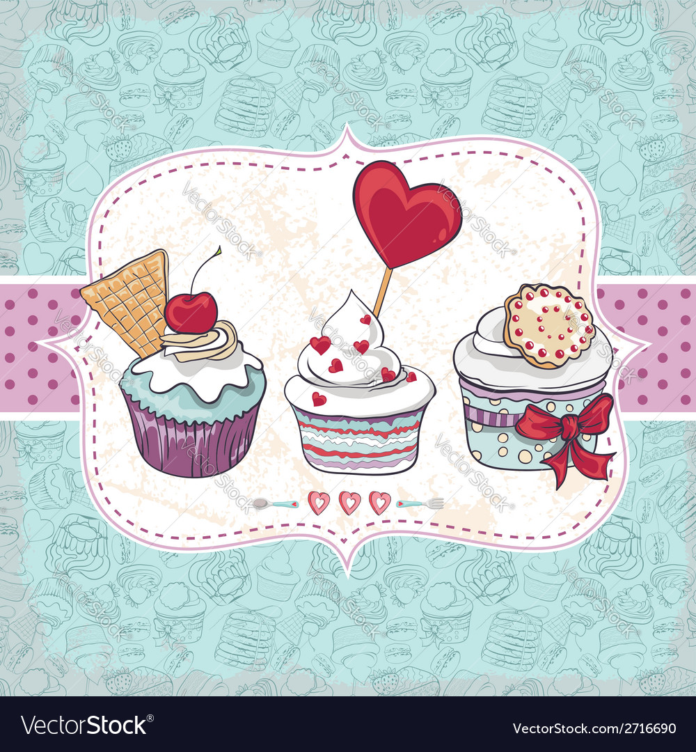 Card with a cupcake