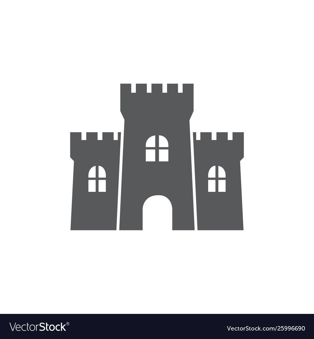 Castle icon on white background
