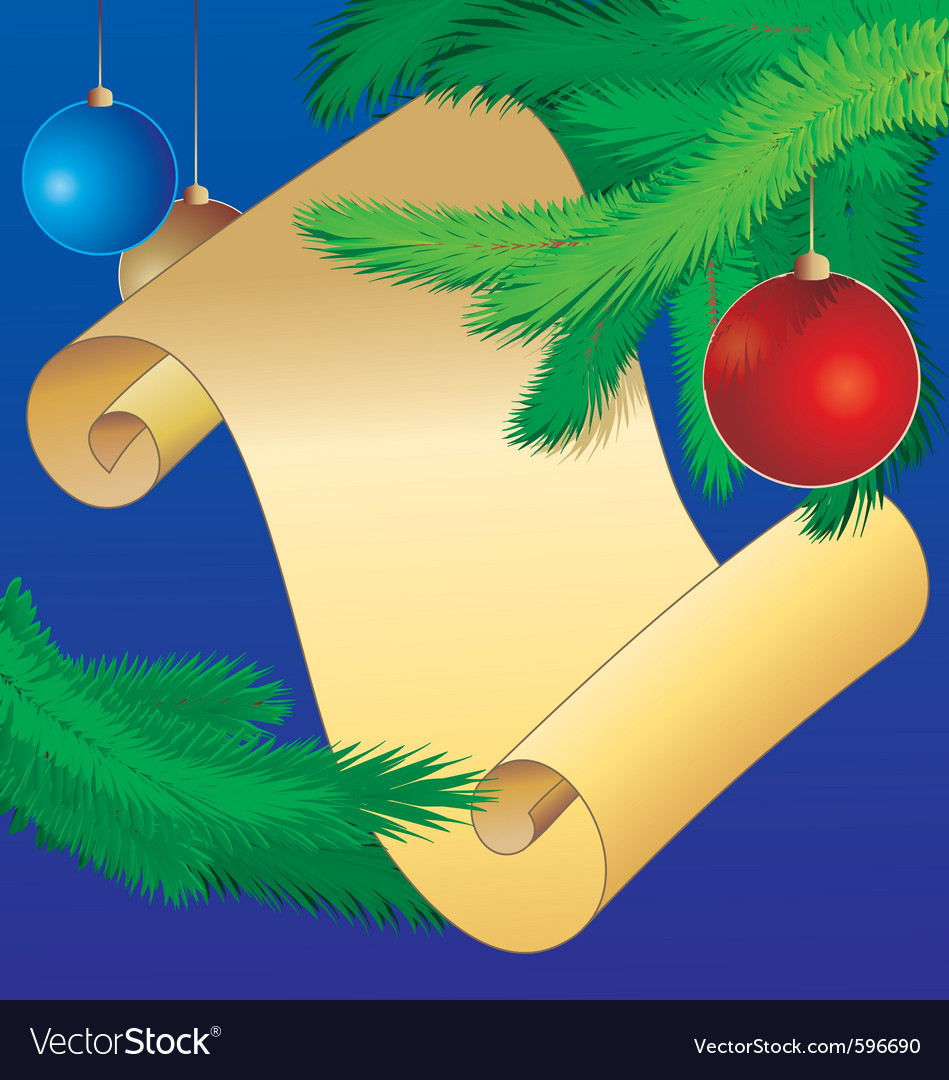 Christmas scroll vintage