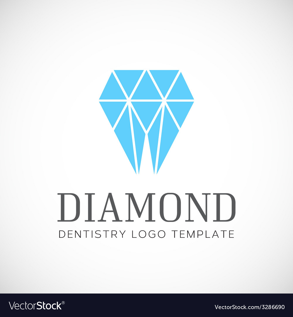 Diamond Dentistry Tooth Abstract Logo Template