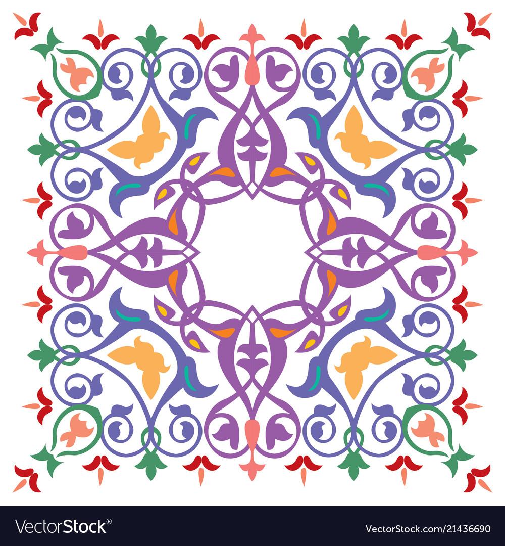 Oriental ornament pattern colorful design