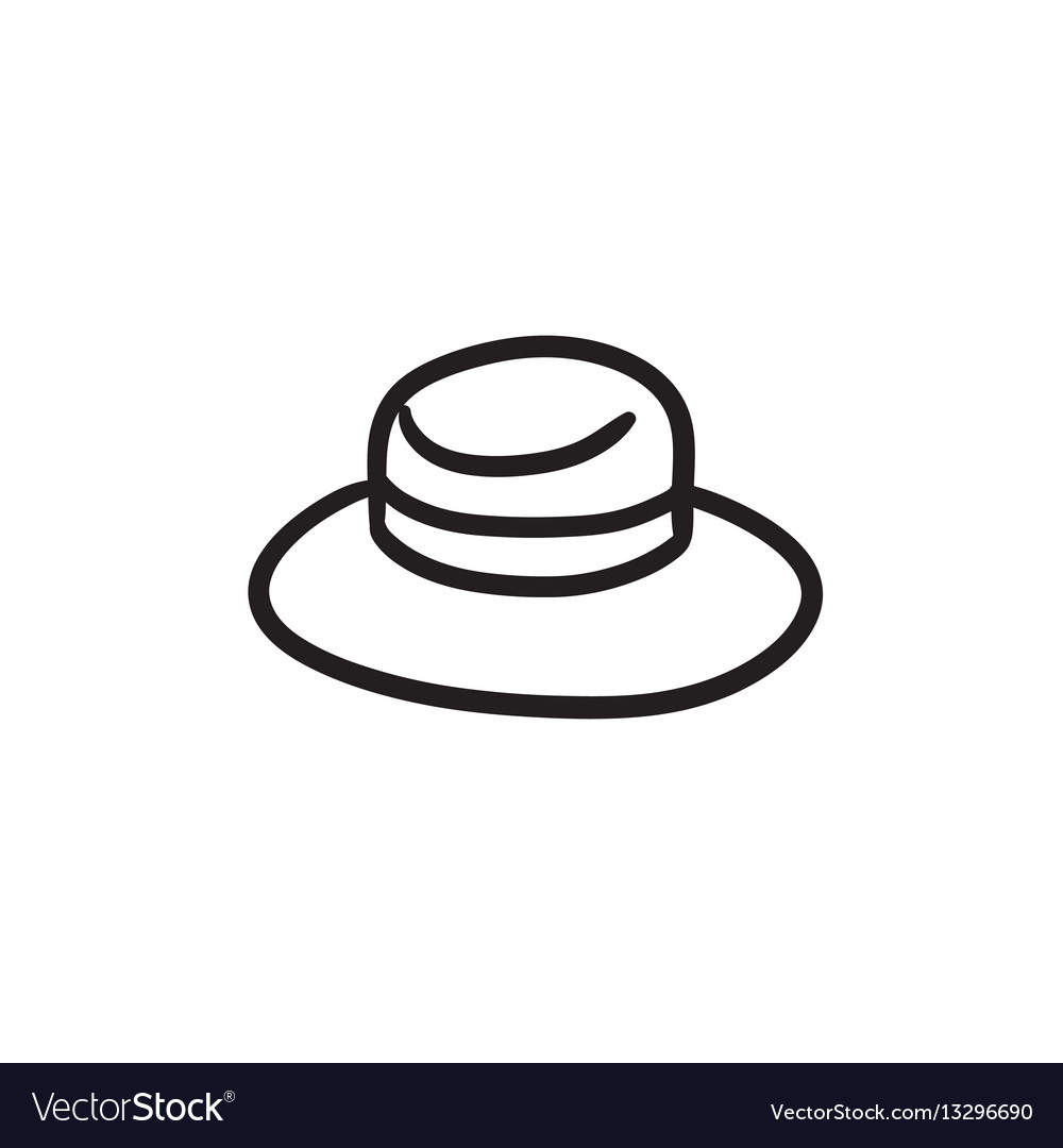 c0bb29a0c79 Summer hat sketch icon Royalty Free Vector Image