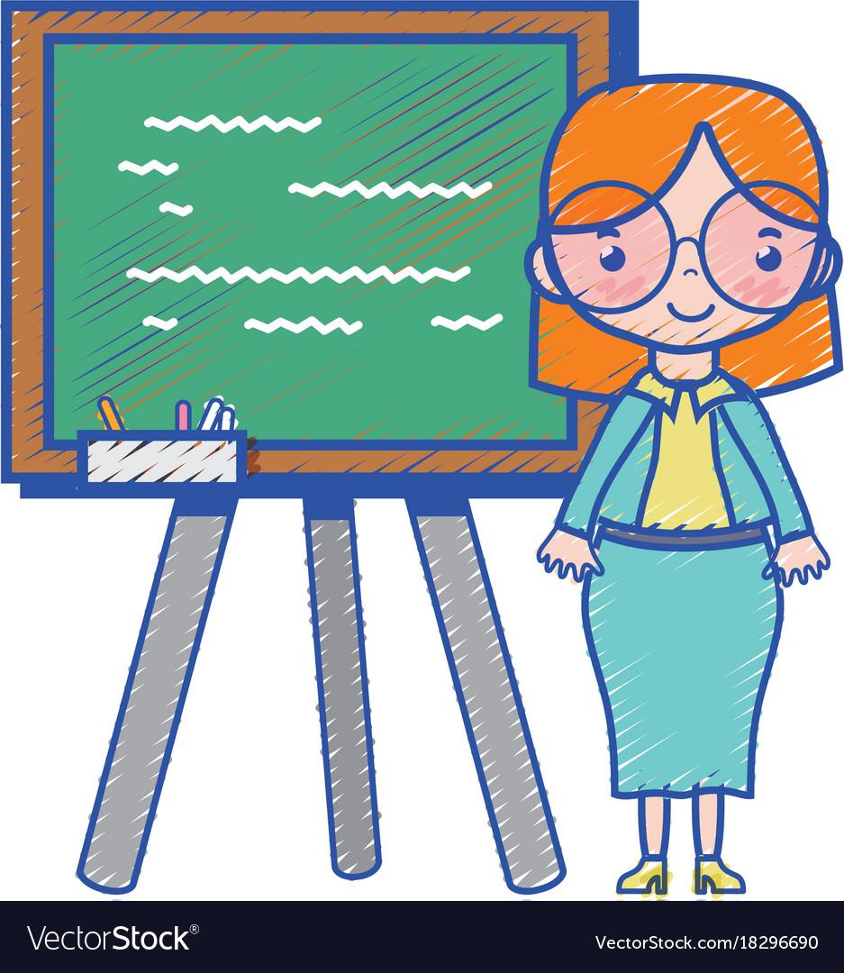 Teacher teaching class lesson in the backcoard