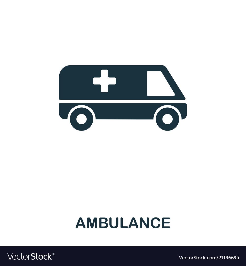 Ambulance icon line style icon design ui