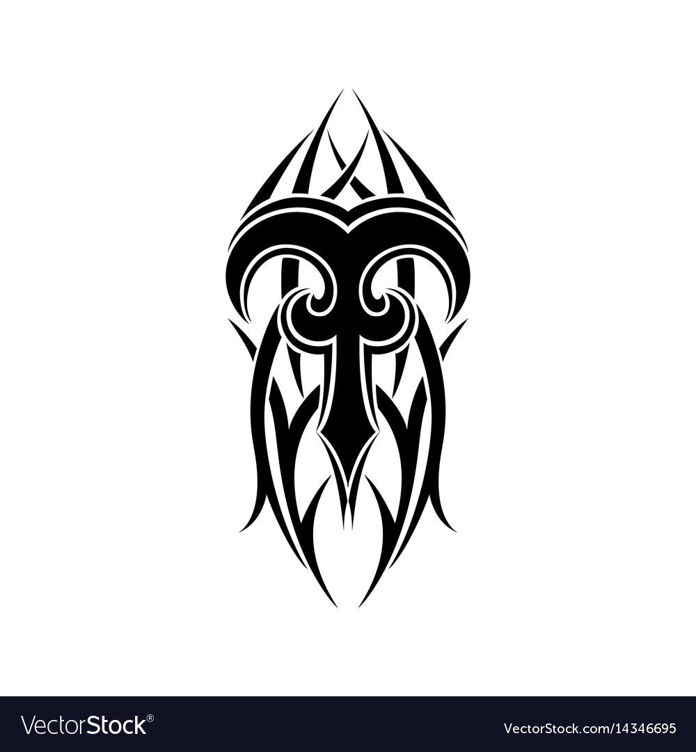 c690cf795 Aries zodiac abstract tribal tattoo design Vector Image