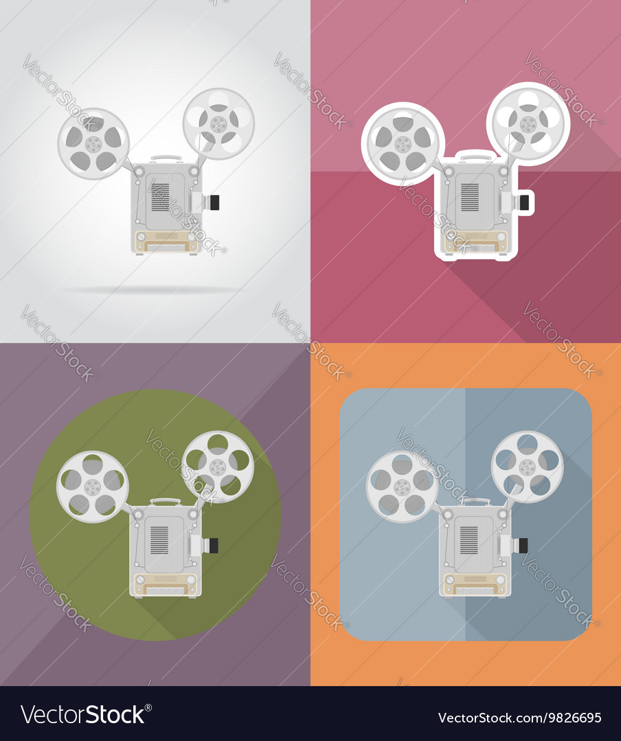 Cinema flat icons 12
