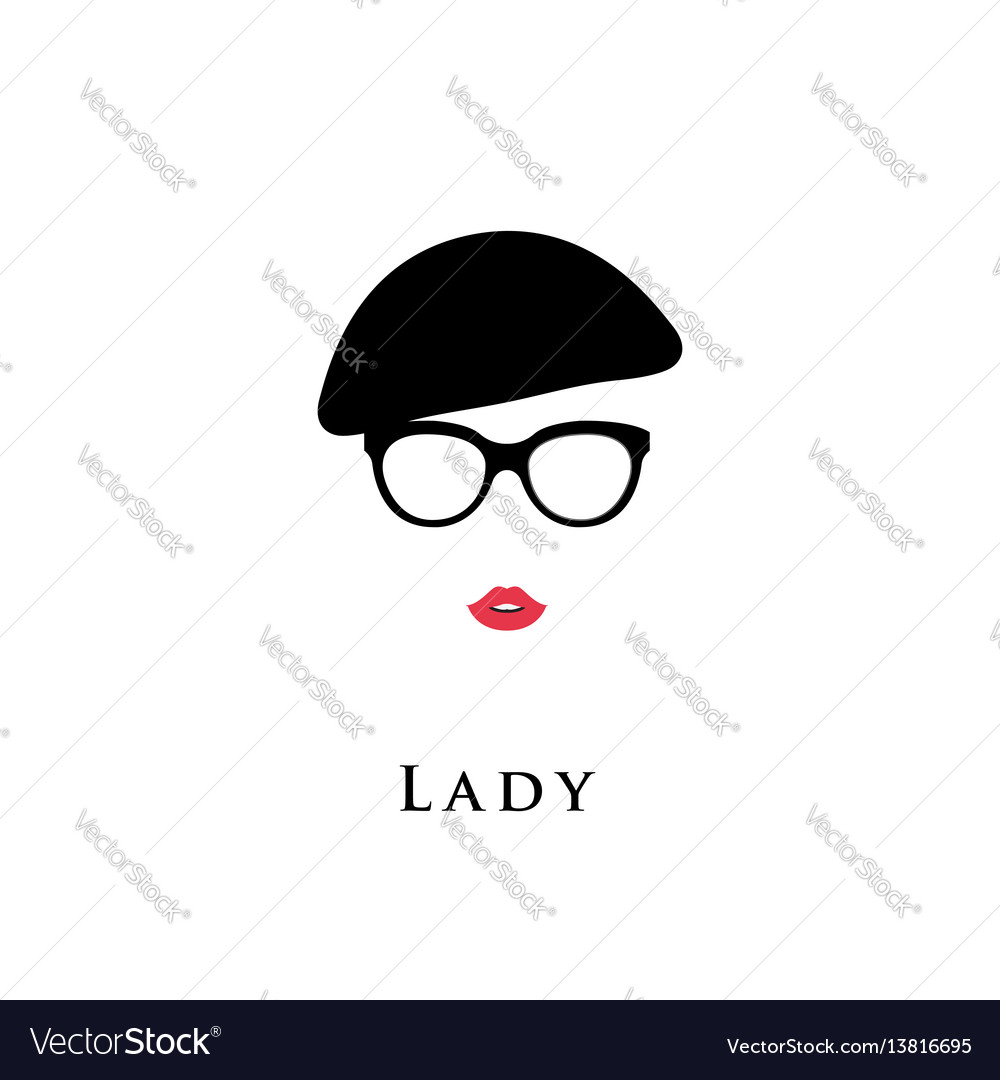Lady with vintage beret vector image