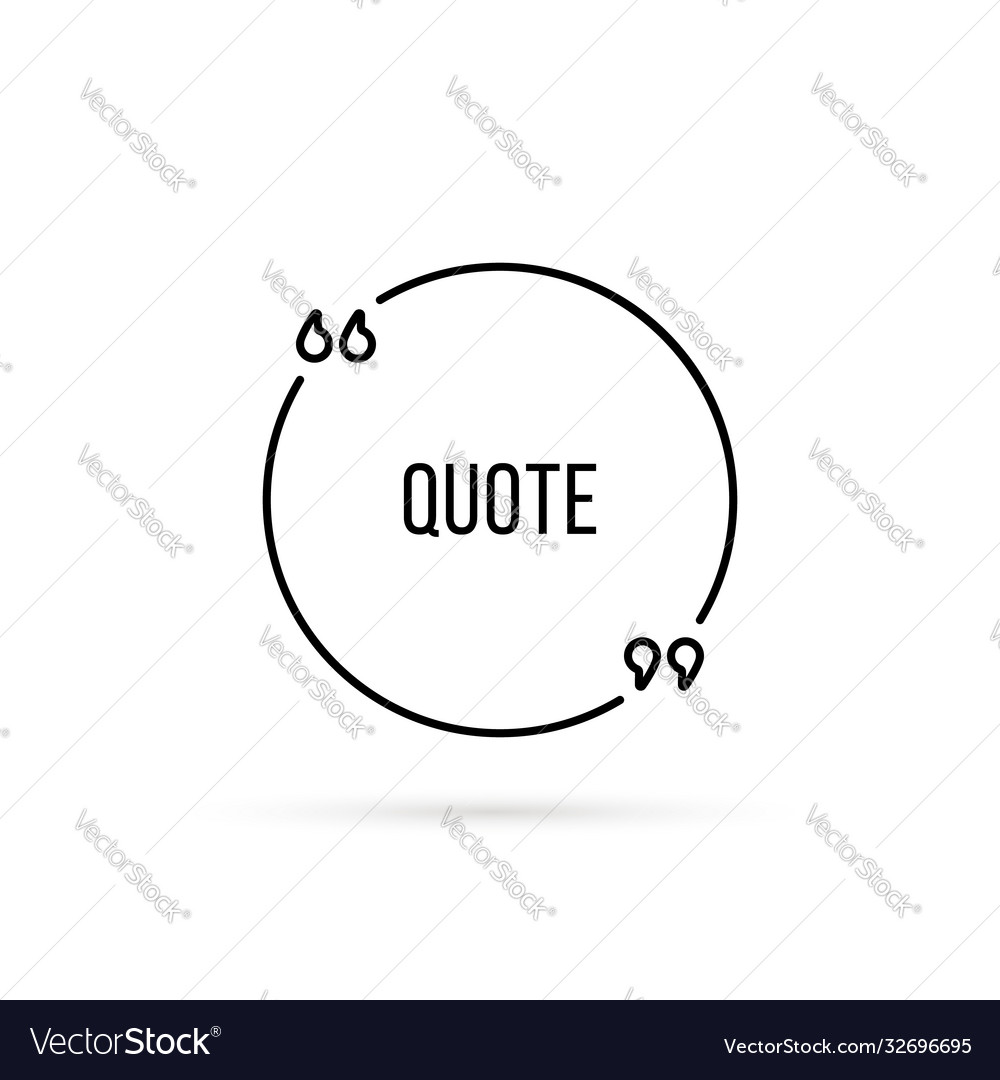 Lineart quotation template with shadow