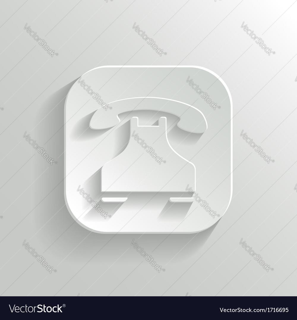 Phone icon - white app button